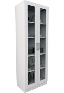 Armário P/ Escritório C/ Portas De Vidro Office Plus Branco Appunto