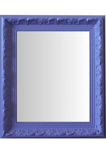 Espelho Moldura Rococó Raso 16407 Lilás Art Shop