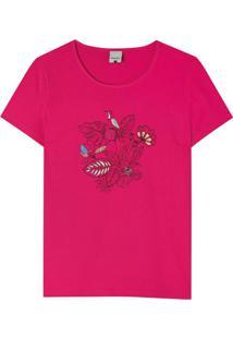 Blusa Rosa Praias Em Malha