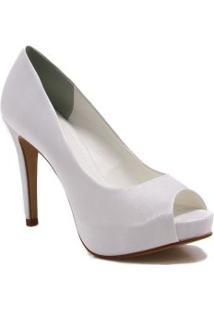 Sapato Peep Toe Zariff Shoes Noivas