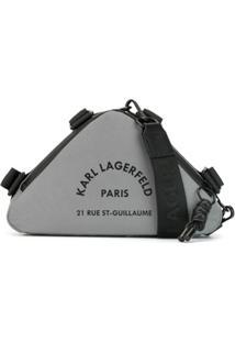 Karl Lagerfeld Bolsa Transversal Rue St Guillaume - Prateado