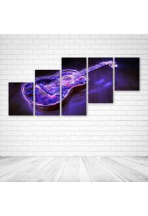 Quadro Decorativo - Cool Guitar - Composto De 5 Quadros - Multicolorido - Dafiti