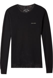 Camiseta John John Ml Super Storm Malha Cinza Masculina (Cinza Chumbo, P)
