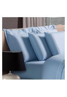 Fronha Avulsa Plumasul Premium Clean 230 Fios 50X150Cm Azul