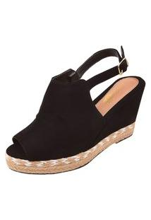 Sandália Uzze Sapatos Anabela Ankie Boot Preta
