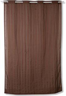 Cortina Em Poliéster Havana Marrom Escuro 280X180Cm