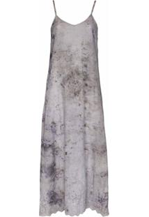 Mimi Prober Vestido Midi Jane Ti-Dye De Algodão Orgânico - Cinza
