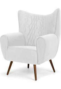 Poltrona Decorativa Para Sala De Estar Kora Pã©S Palito Tress㪠Corano Branco C-12 - Lyam Decor - Branco - Dafiti