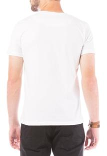 Camiseta Manga Curta Eventual Off-White Branco P - Masculino