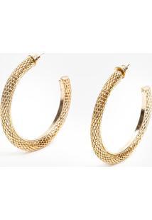 Argola Bobô Snake G Dourado Feminino (Dourado, Un)