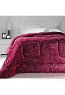 Cobertor Dupla Face Extramacio Queen Duo Blanket Rosa Cherry - 100% Poliéster - Kacyumara