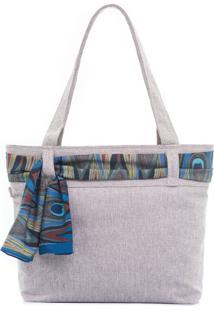 Bolsa Sacola By Grazie Bolsa De Praia Azul