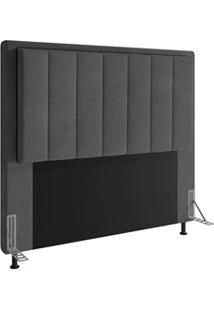 Cabeceira Cama Box Casal Queen 160Cm D10 Opala Suede Cinza - Mpozenato
