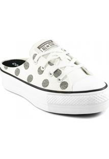 Tênis Mule Converse Chuck Taylor All Star Poá Lift Ct1535