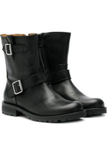 Gallucci Kids Ankle Boot Com Fivela - Preto