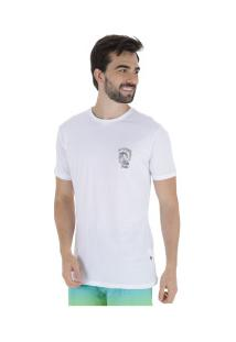 Camiseta Longline Hd Estampada Minimal - Masculina - Branco