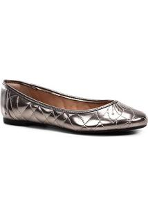 Sapatilha Shoestock Matelassê Feminina - Feminino-Prata