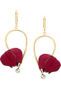Marni Flower Drop Earrings - Vermelho