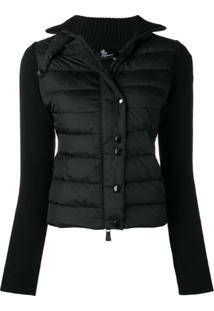 Moncler Grenoble Fitted Padded Jacket - Preto