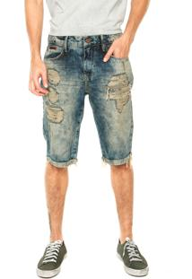 Bermuda Jeans Forum Thiago Dirty Azul