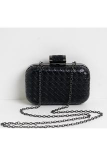 Bolsa Clutch Box Com Textura