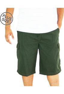 Bermuda Masculina Plus Size Dazz Ling Cós Elástico Verde