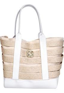 Bolsa Petite Jolie Shopper Summer Feminina - Feminino-Branco
