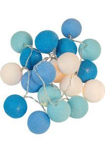 Luminária Bolinhas Azul / Branca