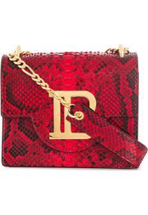 Balmain Bolsa Transversal B-Bag 21 - Vermelho