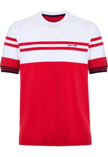 Camiseta Vermelha E Branca