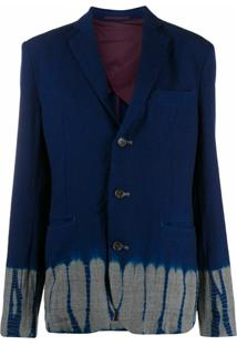 Suzusan Jaqueta Tie-Dye De Lã - Azul
