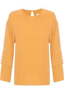 Camisa Amarela Manga Longa feminina  75fc3efc28b27