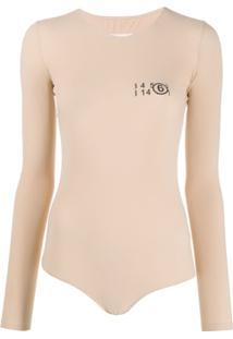 Mm6 Maison Margiela Numbers Print Body - Neutro