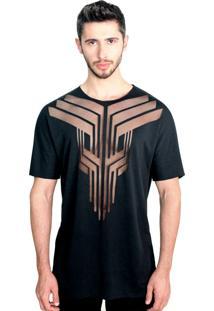 Camiseta Klauk Transparente Preto