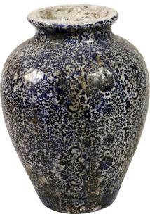 Vaso De Cerâmica Azul Phra Nang