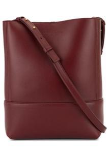 Bottega Veneta Logo Embossed Tote Bag - Vermelho