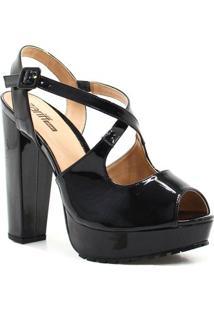 Sandália Zariff Shoes Meia Pata Numeração Grande - Feminino-Preto