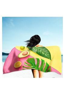 Toalha De Praia / Banho Palm Summer Único