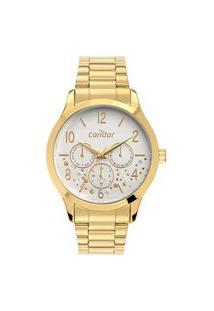 Relógio Condor Feminino Analógico Dourado Co6P29Iz4K