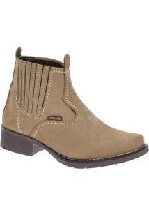 Bota Couro Urbana Boots Feminino - Feminino-Marrom Claro