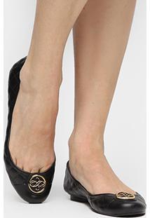 Sapatilha Shoestock Injetada Medalha - Feminino-Preto