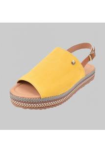 Sandalia Flatform Dona Madame 010301 Amarelo