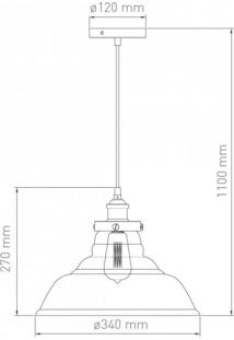 Pendente Para 1 Lâmpada Vintage Tamaron Blumenau Transparente