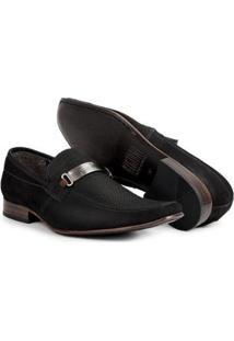 Sapato Social Esporte Fino Couro Bigioni Masculino - Masculino-Preto