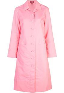 Staud Trench Coat Slim - Rosa