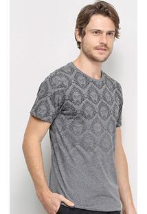 Camiseta All Free Estampada Degradê Masculina - Masculino-Mescla Escuro