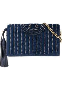 Tory Burch Carteira Fleming - Azul