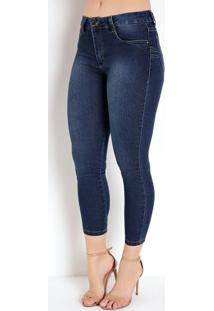 Calça Jeans Levanta Bumbum Cropped Sawary