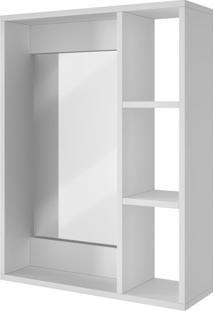 Armário Aéreo Para Banheiro Brv Móveis Com Espelho - Bbn03