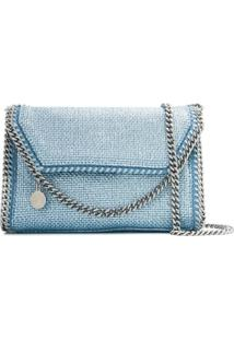 Stella Mccartney Metallic Falabella Crossbody Bag - Azul